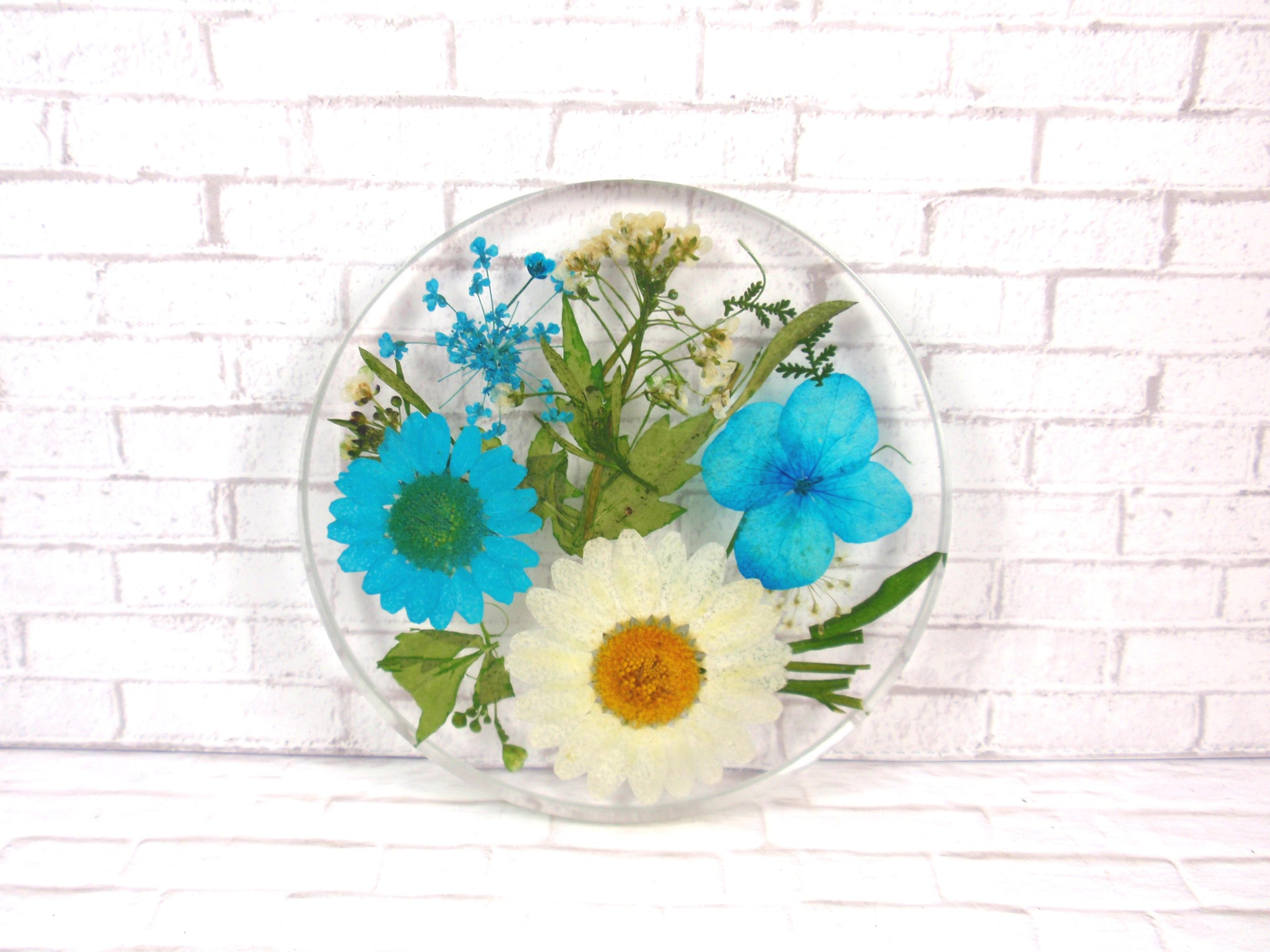 Real flower resin coaster
