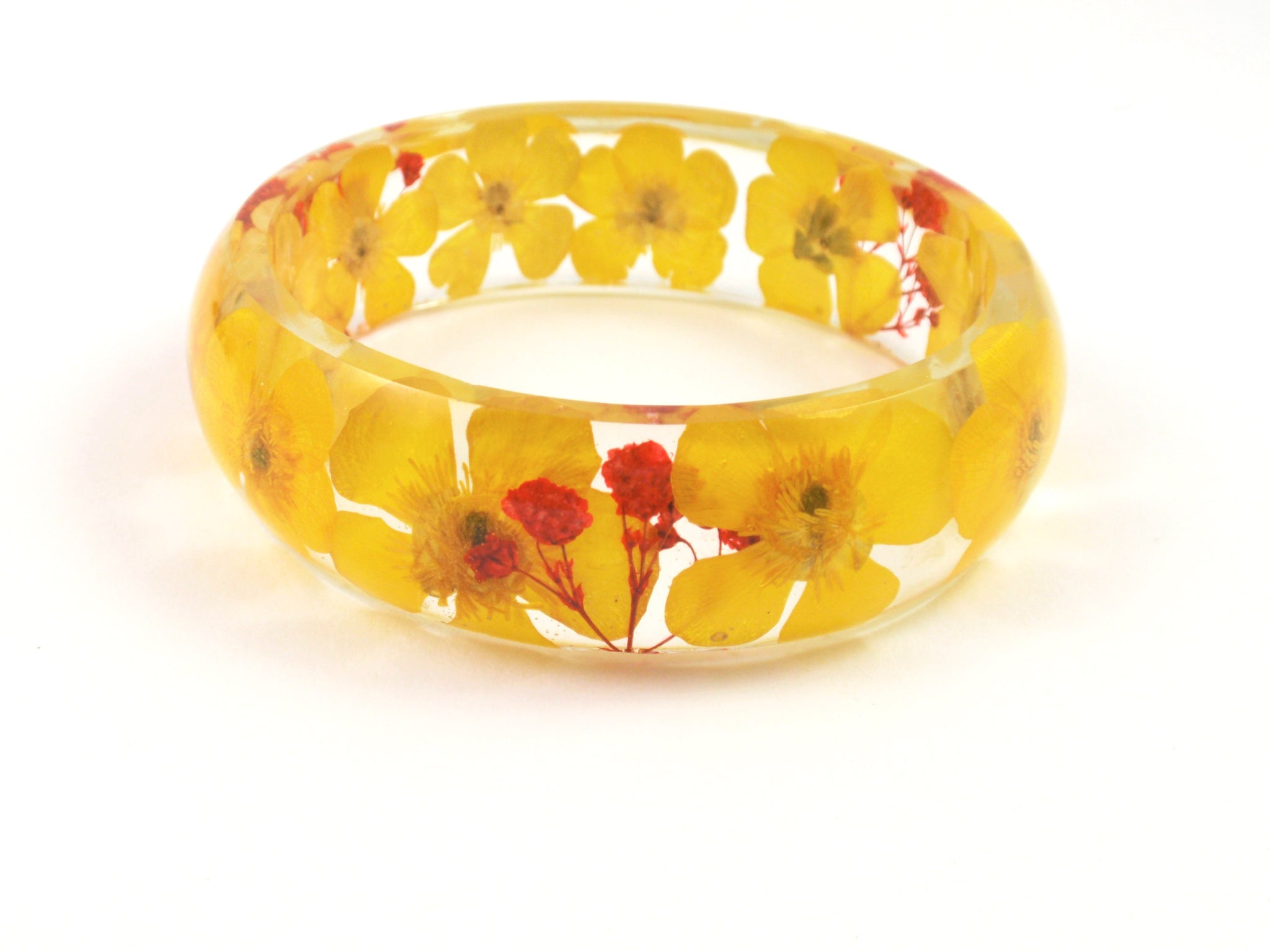 Resin Bracelet real flowers
