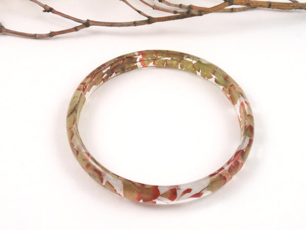 Botanical jewelry, Maidenhair fern bangle bracelet, nature bangle