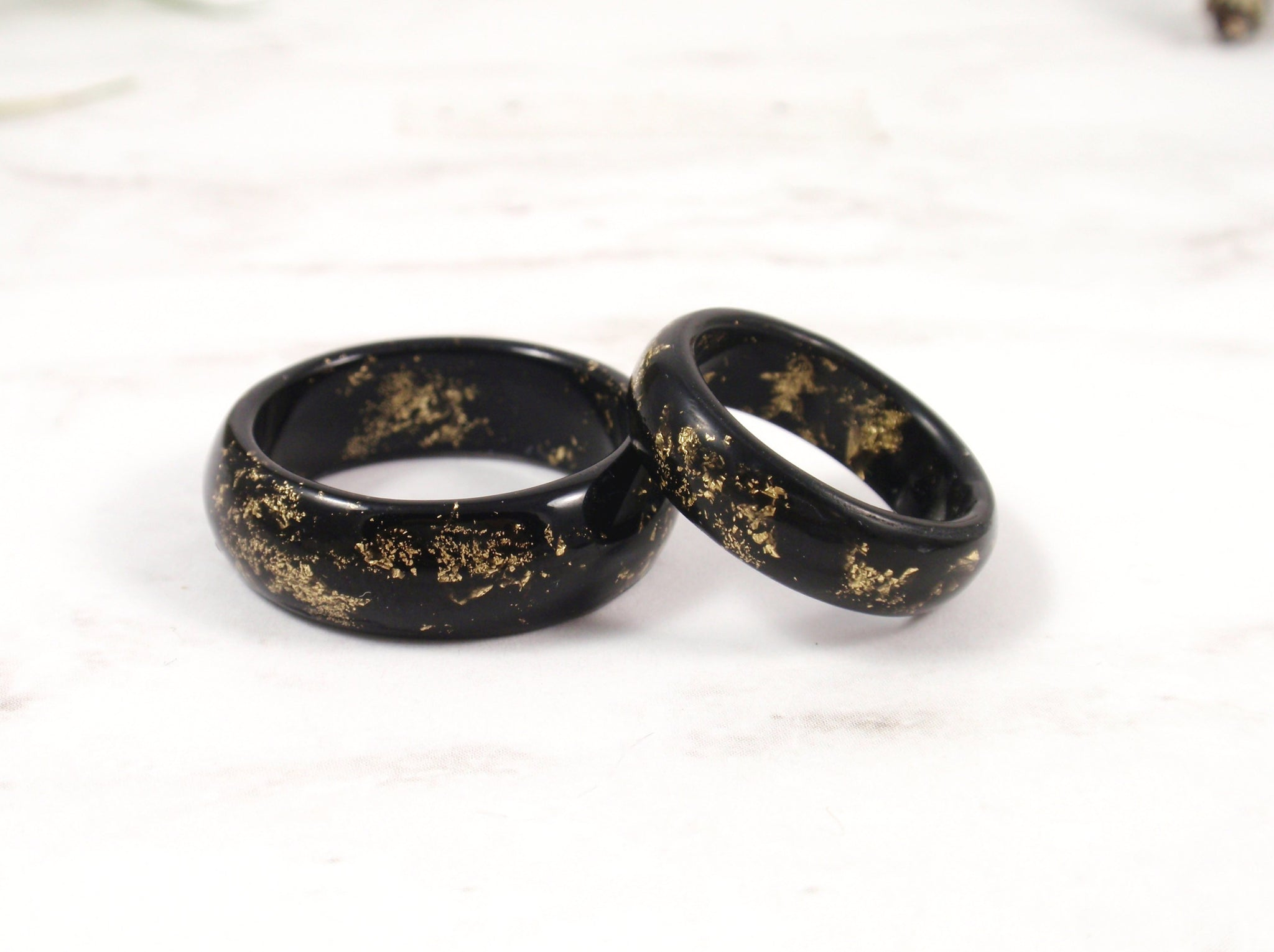 mens ring black resin