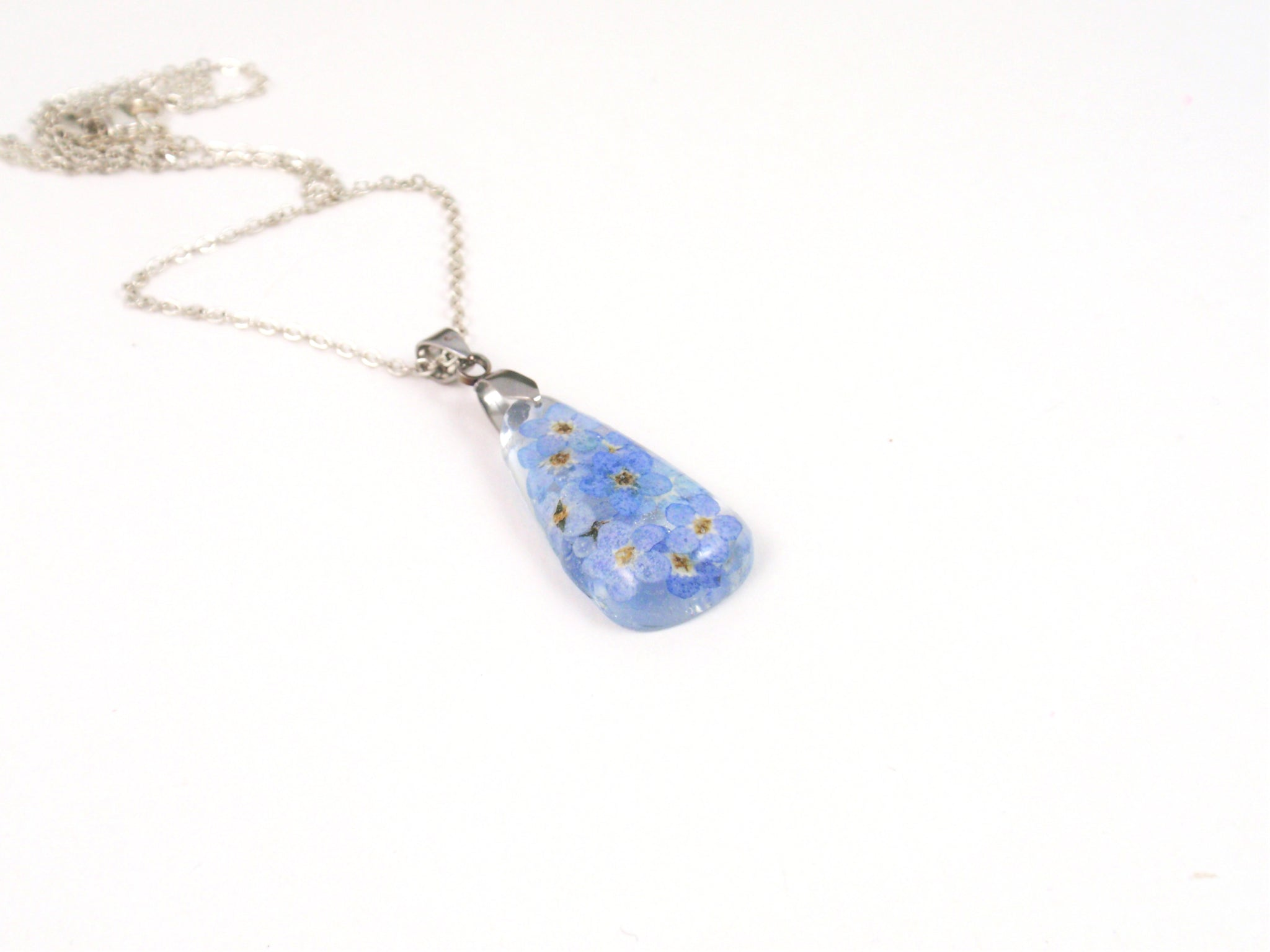 Flower resin jewelry romantic gift