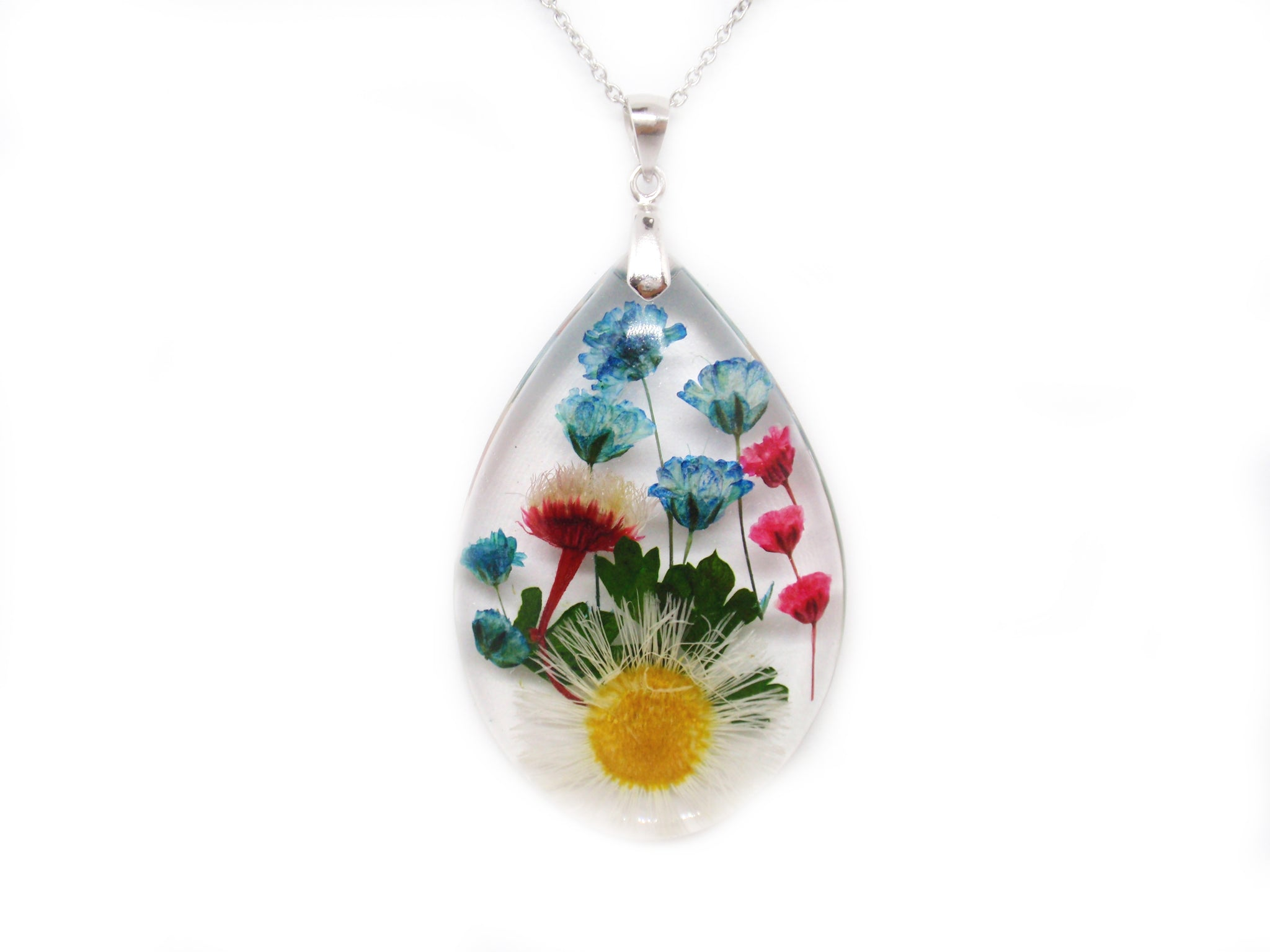 Flower necklace handmade jewelry