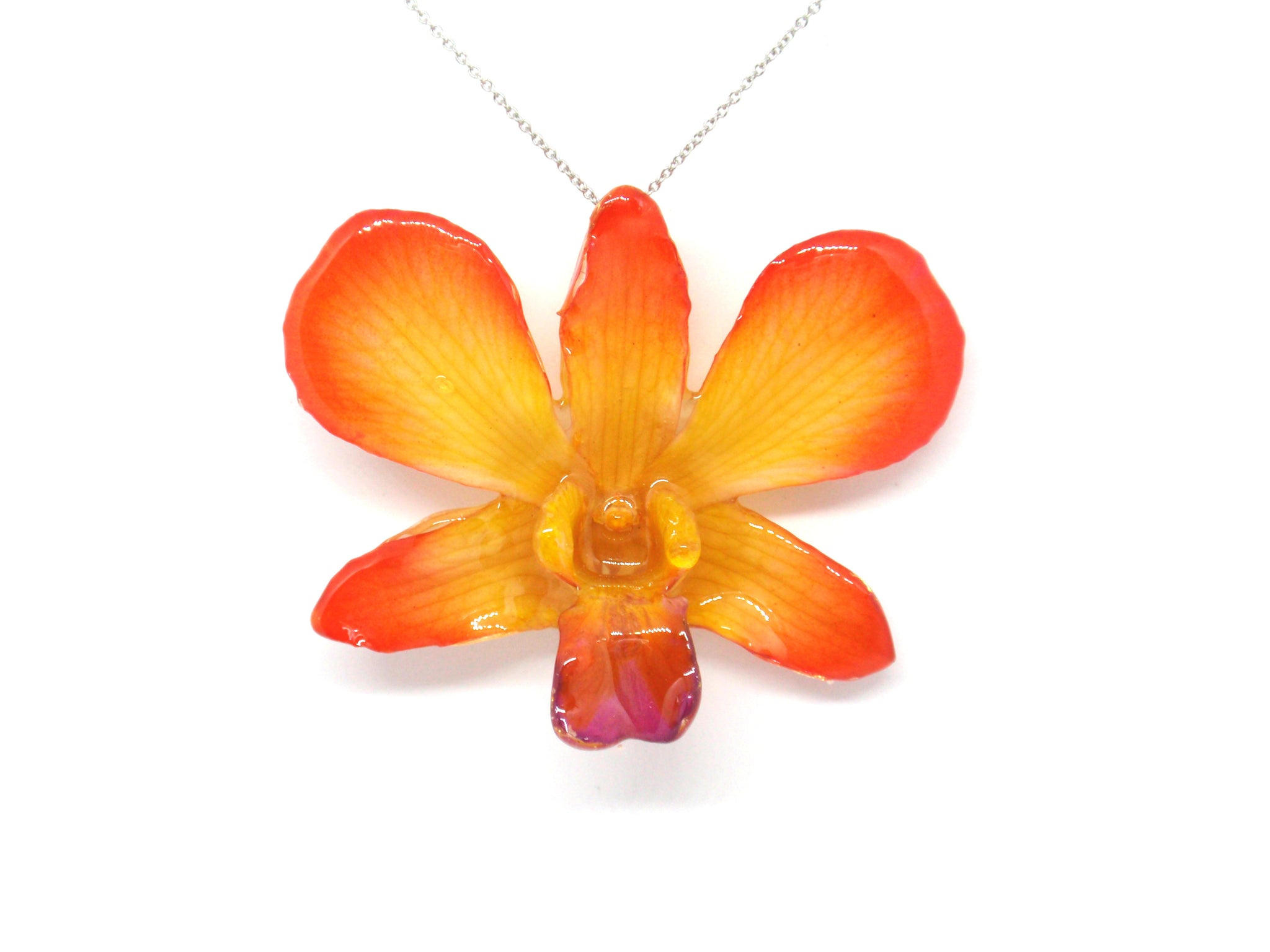 Real Orchid flower necklace