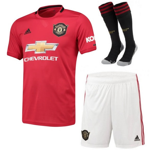 low priced bf269 8ec96 Manchester United Home Whole Kit Soccer Jersey 2019-2020
