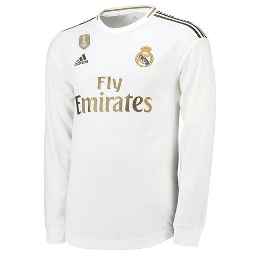 best service 16342 b183c Real Madrid Home Long-Sleeve Jersey 2019-2020