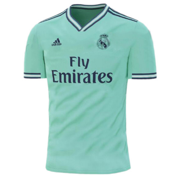 the best attitude e1cd5 799af Real Madrid Third Jersey Cyan 2019/20