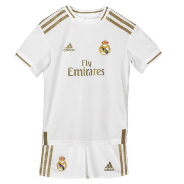 low priced e48c4 f6a40 Real Madrid Kids Home Kit 2019/20