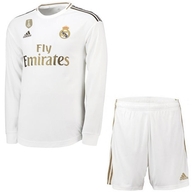 best authentic f3a49 6decf Real Madrid Home Kit Long-Sleeve Jersey & Short 2019-2020