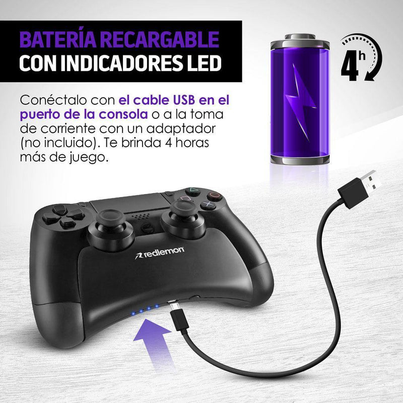 Batería para Control de PlayStation 4 Power Bank PS4 - Redlemon México