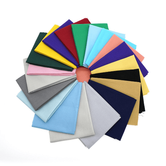 "Angie Wood Creations 12 pcs/lot 16"" x 19"" PLAIN COLOR Fabric Cotton Fabric twill Patchwork Quilting Patchwork Fabric Textile Sewing Crafting Fat Quarter Bundles"