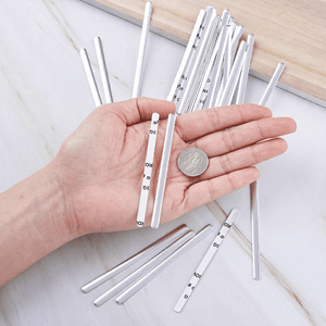Angie Wood Creations Handmade Mask&3mmElastic 20-200pcs Aluminum Nose Wire Bar for Face Mask with Adhesive Back,DIY Mask Material Silver Color 85x5x1mm,Nose bridge,Metal nose bridge,Mask