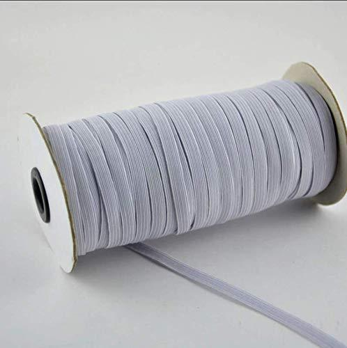 "Angie Wood Creations 3mm Flat Elastic Band Elastic ribbon 5 yards 1/8 "" White Knitted Elastic For Sewing Clothing Face Mask and Crafts Ribbed Sew Elastic"