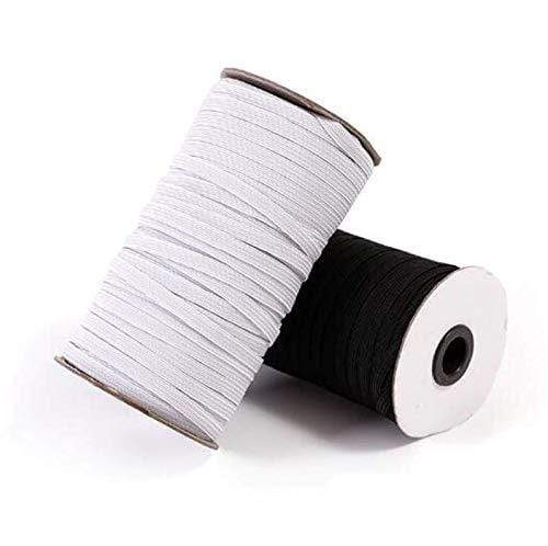 SHIP From CANADA (USA/CANADA) 3mm 6mm Flat Elastic Band White or  black Elastic ribbon yards 1/4 inch elastic  1/8 inch elastic