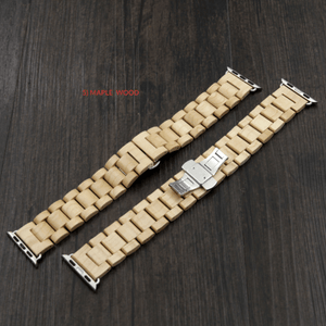 Angie Wood Creations Wooden bracelet apple 5) Maple wood / 38-40mm Apple watch wood bracelet, I watch wooden bracelet,I watch band,Bracelet i watch,Apple watch