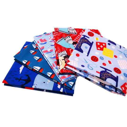 "Angie Wood Creations 5 pcs/lot 16"" x 19"" KIDS ENFANT Fabric Cotton Fabric twill Patchwork Quilting Patchwork Fabric Textile Sewing Crafting Fat Quarter Bundles"