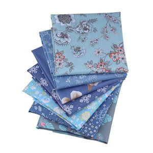 "Angie Wood Creations Handmade Mask&3mmElastic 7-8 pcs/lot 19"" x 19"" Printed Floral Cotton Fabric for Patchwork Quilting Patchwork Fabric Textile Sewing Crafting Fat Quarter Bundles DIY"