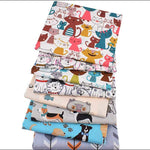 "8 pcs/lot 16"" x 19"" Printed KIDS Animal Cotton Fabric twill Patchwork Quilting Patchwork Fabric Animal Sewing CraftingFat Quarter Bundles"