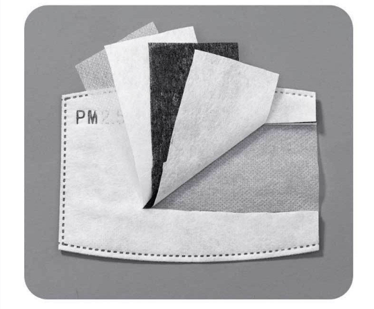 Angie Wood Creations Handmade Mask&3mmElastic Adult Activated Carbon Filter 5 Layer Replaceable Anti-Fog mask Filter Paper Filter PM2.5