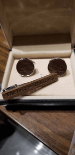 Angie Wood Creations wood cufflink Angie Wood Creations Cufflinks Ebony wood ,engrave cufflinks,Wood cufflinks (CL036))