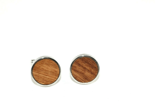 Angie Wood Creations wood cufflink Angie Wood Creations Cufflinks Maple wood ,engrave cufflinks,Wood cufflinks (CLMaho02)