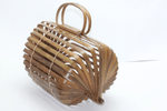Angie Wood Creations Handmade Bamboo bag High Quality,Beach bag,Trendy bag,Womens Bamboo Bag Straw Woven Clutch Handbag Beach Handmade Wooden Shoulder Bags