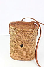 Angie Wood Creations Cork Bag/ Wood bag/Wallet Angie Wood Creations Handmade Round Ata Bali High Quality Rattan Hand Bag Bucket Kul Bag