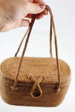 Angie Wood Creations Cork Bag/ Wood bag/Wallet Angie Wood Creations Handmade Round Ata Bali High Quality Rattan Mango Bag