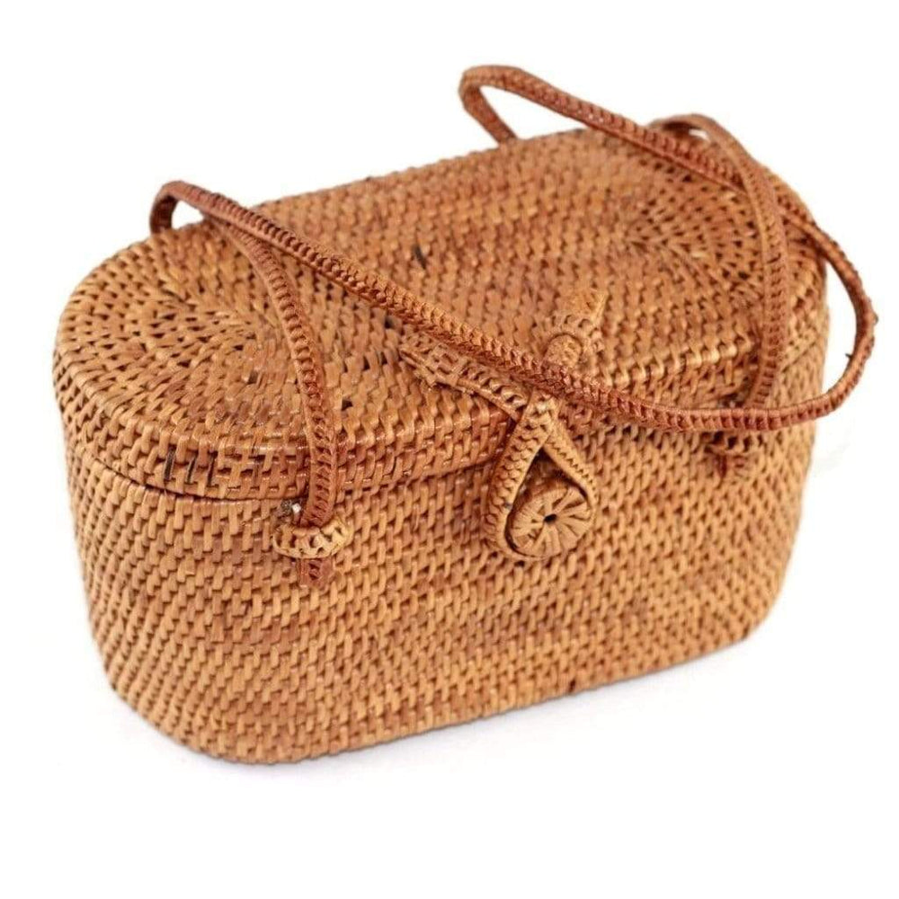 Angie Wood Creations Handmade Round Ata Bali High Quality Rattan Mango Bag
