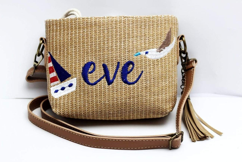 Angie Wood Creations Straw Bag Eve