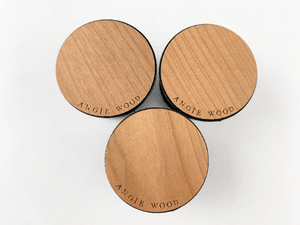 Angie Wood Creations Cherry wood / Engrave Dark Brown Wood Grain - Bamboo Popsockets,Phone stand,Cell phone holder,PopSockets Smartphone & Tablet Grip Stand,Phone stands,Pop Socket