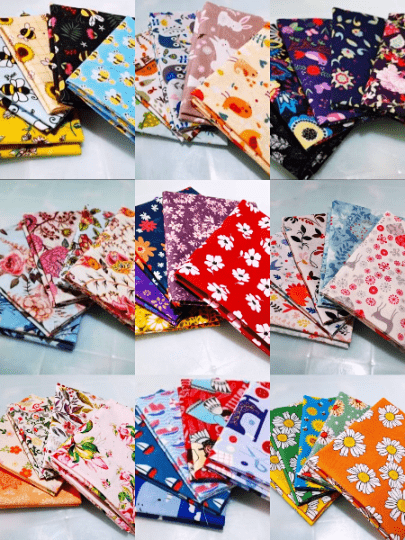 "Angie Wood Creations Copy of 5 pcs/lot 16"" x 19"" FLORAL Fabric Cotton Fabric twill Patchwork Quilting Patchwork Fabric Textile Sewing Crafting Fat Quarter Bundles"