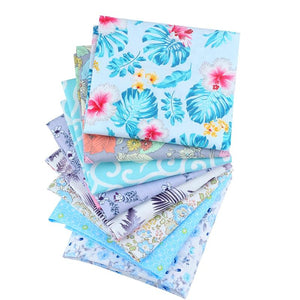 "Angie Wood Creations Handmade Mask&3mmElastic COTTON 23 7-8 pcs/lot 19"" x 19"" Printed Floral Cotton Fabric for Patchwork Quilting Patchwork Fabric Textile Sewing Crafting Fat Quarter Bundles DIY"