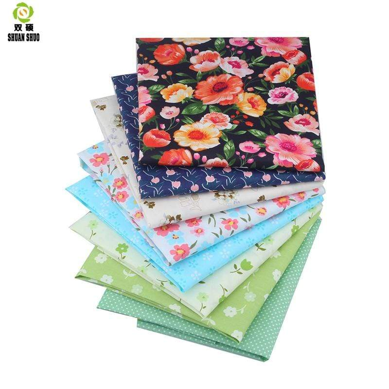 "7-8 pcs/lot 19"" x 19"" Printed Floral Cotton Fabric for Patchwork Quilting Patchwork Fabric Textile Sewing Crafting Fat Quarter Bundles DIY"