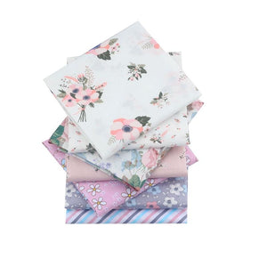 "Angie Wood Creations Handmade Mask&3mmElastic COTTON 25 7-8 pcs/lot 19"" x 19"" Printed Floral Cotton Fabric for Patchwork Quilting Patchwork Fabric Textile Sewing Crafting Fat Quarter Bundles DIY"