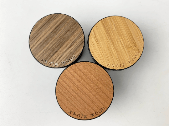Angie Wood Creations Dark Brown Wood Grain - Bamboo Popsockets,Phone stand,Cell phone holder,PopSockets Smartphone & Tablet Grip Stand,Phone stands,Pop Socket