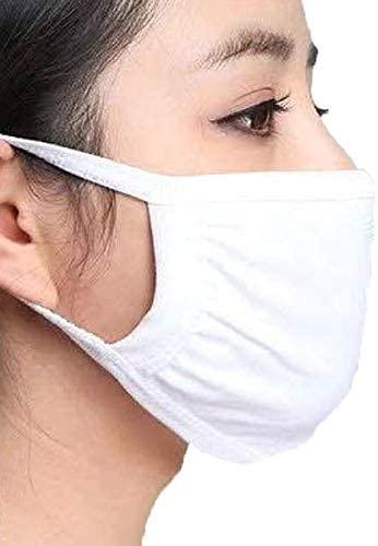 Angie Wood Creations mask Fast Shipping from Canada - Unisex Cotton Mouth Mask Adjustable Anti Dust Face Mask,Black Cotton Mouth Mask Muffle Mask for Running Cycling Camping Washable Reusable 2 Layer Cloth Masks (Black/White)
