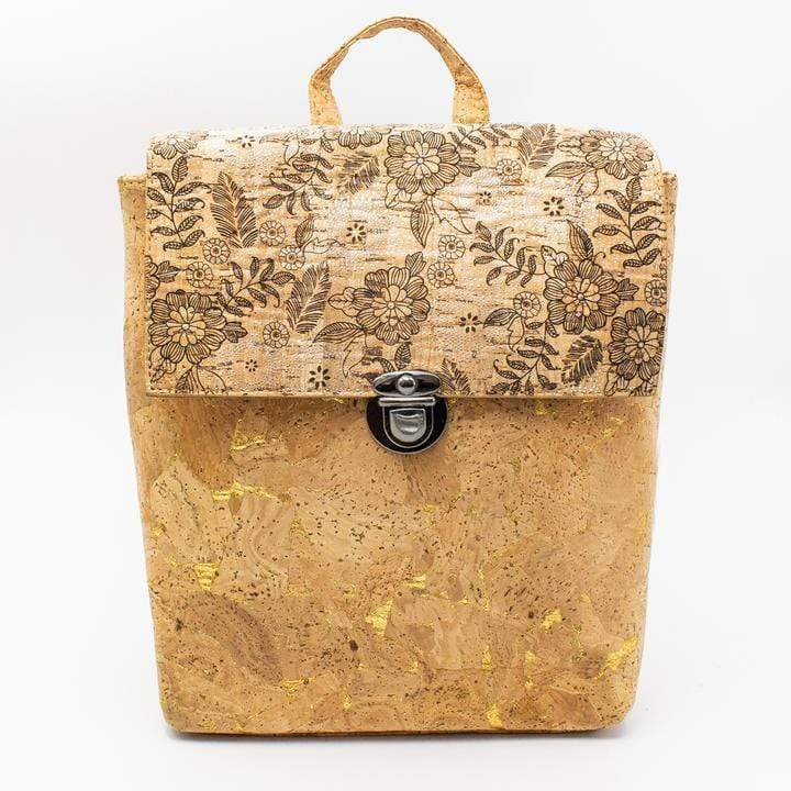 Angie Wood Creations Cork Bag/ Wood bag/Wallet High quality cork fabric made women bag pack girls cross vegan Angie Wood Creation