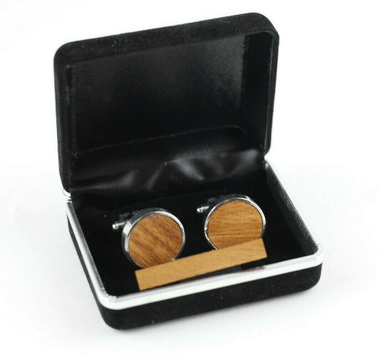 Angie Wood Creations Cufflinks Maple wood ,engrave cufflinks,Wood cufflinks (clmaho02)