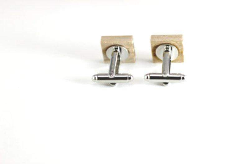 Angie Wood Creations wood cufflink Not engrave Angie Wood Creations  Maple Wood Cufflink