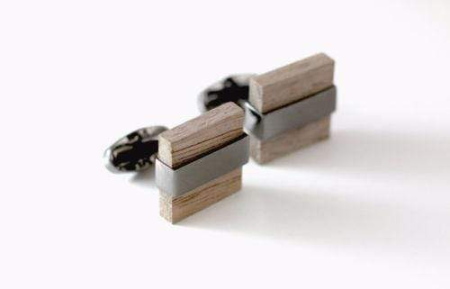 Angie Wood Creations Maple Wood Cufflink