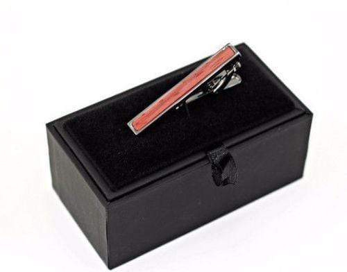 Angie Wood Creations Tie Clip Not engrave Angie Wood Creations Red Sandal Wood Men Tie Clip