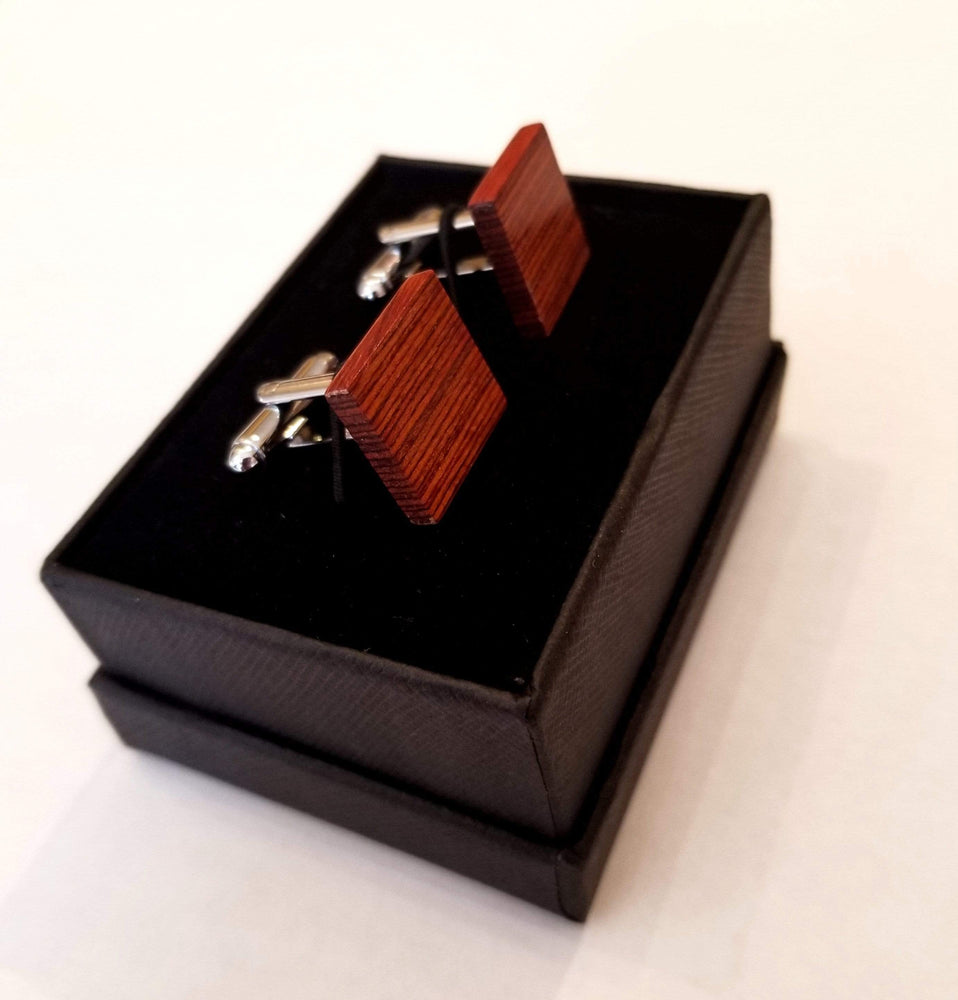 Angie Wood Creations wood cufflink Not engrave Angie Wood Creations Rose Wood Cufflink,Engraved cufflink,Men cufflinks (CL031)