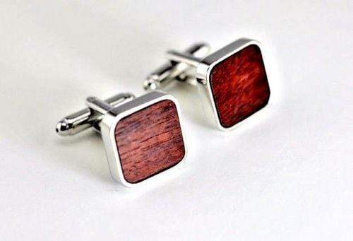 Angie Wood Creations Rose Wood Cufflink