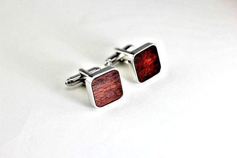 Angie Wood Creations wood cufflink Not engrave Angie Wood Creations Rose Wood Cufflink