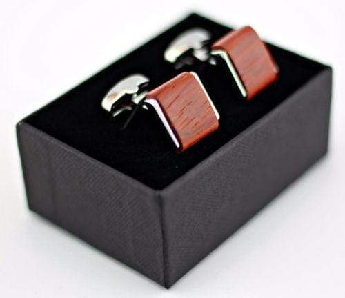 Angie Wood Creations Zebra Wood Cufflink Rose wood