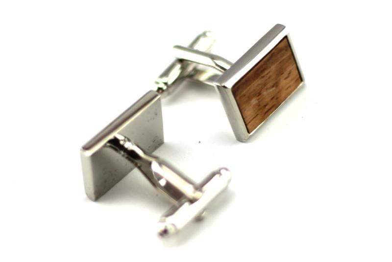 Angie Wood Creations Zebra Wood Cufflink