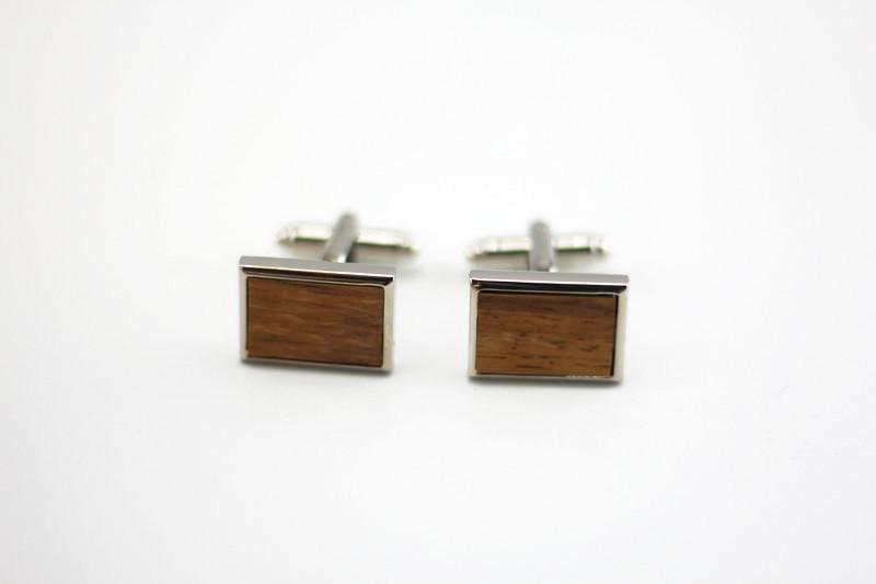 Angie Wood Creations wood cufflink Not engrave Angie Wood Creations Zebra Wood Cufflink