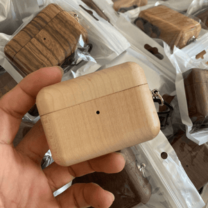 Angie Wood Creations not engraving / bamboo Wood Airpod Case 3, Custom Airpod Case With Metal Hook Keychain, Apple Airpods Pro Case, Airpod Holder, AirPod Sticker, Christmas Gifts