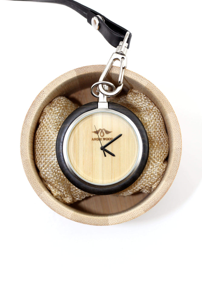 Custom Pocket Watch, Engraved Personalized Gift For Men,Wood Pocket Watch (P001)