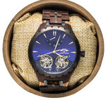 Men Angie Wood Sapphire Glass Automatic Purpleheart & Maple Wood Watch